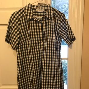 black and white checked dress/tunic